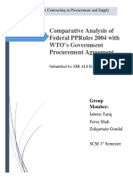 Comparative Analysis of Federal PPRules 2004 With UNCITRAL