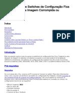 CISCO SWITCH Recuperação de Configuração Fixa Catalyst de Uma Imagem Corrompida Ou Ausente