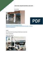 DIRECCIONES DE LUGARES PARA ADQUIRIR MATERIAL PARA ARTE.docx