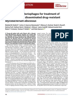 Engineered Bacteriophages for Treatment of a Patient With a Disseminated Drug-resistant Mycobacterium Abscessus