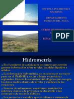 PRESENTACION HIDROMETRÍA HIDROMETRÍA