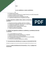 Ejercicios de Estadística I