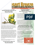 October 2008 Desert Breeze Newsletter, Tucson Cactus & Succulent Society