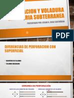Perforacion y Voladura en Mineria Subterranea
