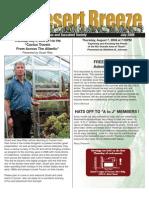 July 2008 Desert Breeze Newsletter, Tucson Cactus & Succulent Society