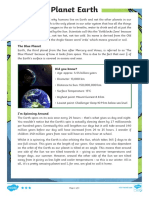 t2 s 866 Year 5 Planet Earth Differentiated Reading Comprehension Activity Ver 2