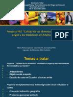 Seminario- Taller Las indicaciones geograficas y denominaciones de origen en Ecuador