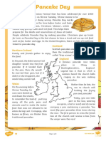 Pancake Day Differentiated Reading Comprehension Activity Ver 3