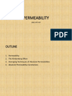 Introduction to Rock Permeability, Klinkenberg Effect and Absolute Permeability Models