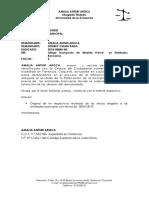 Oficio Allegando Inscripcion de Medida de Embargo