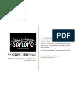 Vozrecuerdas, informe de sistematizacion de la fase de formaion de Laboratorio Sonoro.pdf