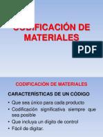 Codificación de Materiales