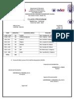 Class Program Cattleya