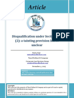 Disqualification Under Section 164 a Tainting Provision Left So Unclear (1)