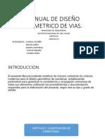 Manual de Diseño Geometrico de Vias- Capitulo i y II