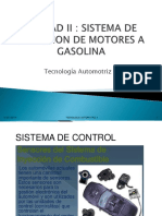 Unidad II Sistema de Inyeccion de Motores a Gasolina
