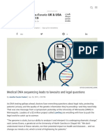 Medical DNA Sequencing Leads to Lawsuits and Legal Questions _ Science _ AAAS