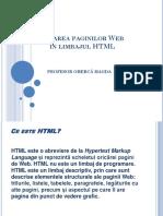 Crearea Paginilor Web În Limbajul HTML (1)