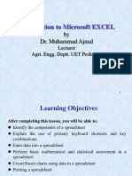 07. Introduction to Excel