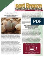 January  2010 Desert Breeze Newsletter, Tucson Cactus & Succulent Society