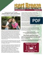 February 2010 Desert Breeze Newsletter, Tucson Cactus & Succulent Society
