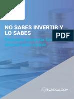 No Sabes Invertir en Bolsa y Lo Sabes eBook FONDOS Cta Registro