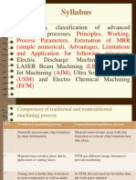 Unit-4 Advanced Machining Processes