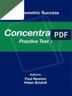 Psychometric Success Concentration - Practice Test 1