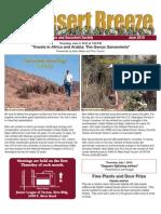 June 2010 Desert Breeze Newsletter, Tucson Cactus & Succulent Society