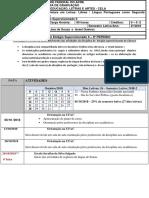 Cronograma Atividade Da Disciplina de Estágio Supervisionado 2º Semestre 201