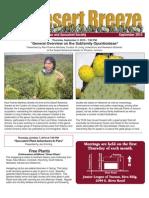 September 2010 Desert Breeze Newsletter, Tucson Cactus & Succulent Society