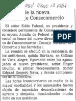 En Honor de La Nueva Directiva de Consecomercio - El Universal 13.05.1987
