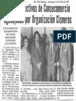 Nuevos Directivos de Consecomercio Agasajados Por Organizacion Cisneros - El Universal 14.06.1987