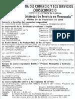 Programa de La Semana Del Comercio y Los Servicios CONSECOMERCIO - El Nacional 23.11.1986