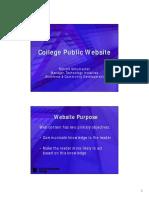 College Public Website