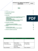 PR037 Protocolo Limpieza de Centros Sanitarios