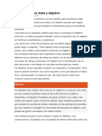 Diferencia Entre Meta y Objetivo Pb
