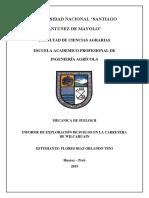 Informe de Exploracion de suelos