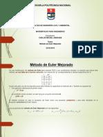 Presnetacion Euler Mejorado