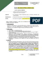 informe de Procedimientos Administrativos Disciplinario