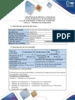 Guía de Actividades y Rúbrica de Evaluación - Tarea 2 - Métodos de Integración