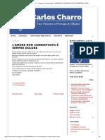 Carlos Charro - Consulto Di Cartomanzia_ l'Amore Non Corrisposto è Sempre Dolore