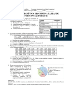 Taller Estadistica Descriptiva Tablas de Frecuencia