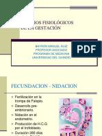 CAMBIOS FISIOLÓGICOS DE LA GESTACIÓN