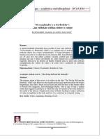 MATOSO - O Escafandro e a Borboleta - Uma Reflexão Crítica Sobre o Corpo