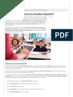 ¿Qué Es y Para Qué Sirve Un Currículum Educativo_ _ Modelo Curriculum