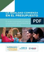 La Igualdad Comienza en El Presupuesto Rol Sociedad Civil 2017 Onumujeres