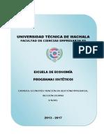 Programas Sinteticos Nivel v 2013-2017