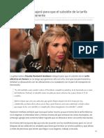 02-05-2019 Gobernadora trabajará para que el subsidio de la tarifa eléctrica sea permanente-Expreso