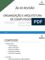 AulaoRevisao de Organização e Arquitetura